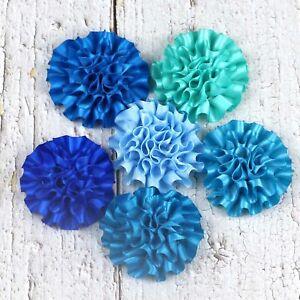 DIY 5-100Pcs satin ribbon big Peony Flower Appliques/craft/Wedding decoration