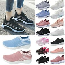 Womens Sports Sneakers Mesh Running Casual Breathable Athletic Flat Shoes Size
