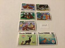 Disney: 7 Grenada Grenadines Stamps Mnh, Lot #5569