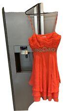 Katen Millen Dress 8 Red Ruffles