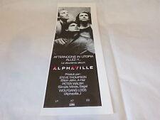 ALPHAVILLE - Petite publicité de magazine / Advert !!! AFTERNOONS IN UTOPIA !!!