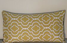 "Pillow Cover, Yellow, Black & white 12""x 20"""