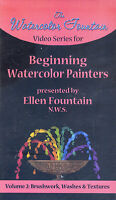 watercolor fountain ellen BEGINNING WATERCOLOR PAINTERS volume 2   VHS VIDEOTAPE