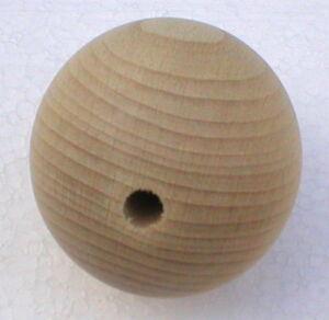 Holzkugeln Ø 35 mm Kugel mit halber Bohrung Buche natur Rohholzkugeln