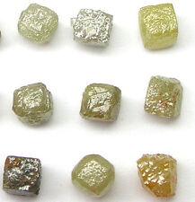 5+ Carats Natural Rough Diamond Diamonds 1/2 Cubes Gem