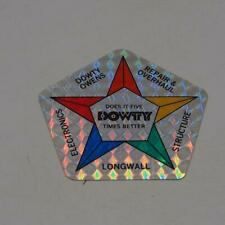 New listing Vintage Dowty Coal Mine Holographic Mining Equipment Helmet Decal Sticker