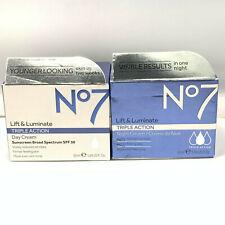 No7 Lift & Luminate Triple Action Day Cream/Night Cream 50ml/1.69fl.oz. You Pick