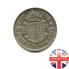 A 1958 British Cupro-Nickel ELIZABETH II HALFCROWN Coin, 60 years old!