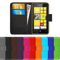 Premium Luxury Leather Flip Wallet Book Case Cover For Nokia Lumia 520