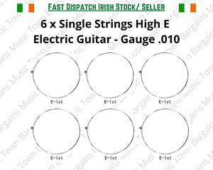 Single Strings Electric Guitar High E 010 x 6 Strings 10's Alice 1st String E