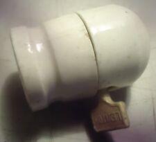 Leviton , porcelain lamp  socket with  side switch  250 W, 250 V, vintage
