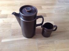 Wedgwood Oven to Table 1 Large Coffee Pot 1 Milk Jug Sterling Pattern ( Brown )