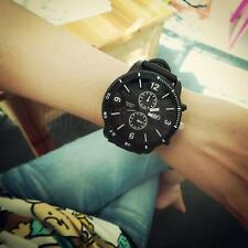 Men's Women's Classic Oversize Face Silicone Band Analog Quartz Watch Wristwatch