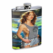 Argentina Pin Up Girls D5 Flask 8oz Stainless Steel Hip Drinking Whiskey