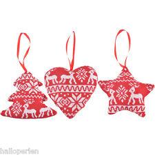 1PC Mixed Random Star Heart Christmas Tree Decoration Xmas Supplies 12x12cm