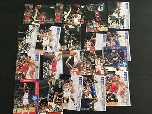 lot 84 Upper deck NBA basket ball collector's choice serie 2 1994 1995 cartes