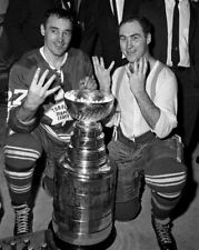 Red Kelly, Frank Mahovlich Toronto Maple Leafs 1967 Stanley Cup 8x10 Photo