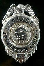 Vintage Obsolete Jefferson County Ohio Police Badge