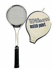 Vintage Wilson Match Point Aluminum Frame 4 5/8 Tennis Racket With Case