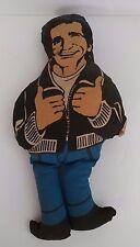 """Vintage 1976 Happy Days Fonzie The Fonz Stuffed Plush Pillow Doll Toy 16"""""""