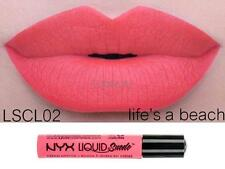 NYX Liquid Suede Cream Lipstick LIFE'S A BEACH LSCL02 Coral New Sealed Authentic