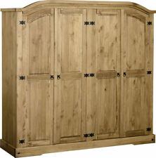 Unbranded Pine Wardrobes with 4 Doors