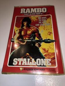 Vintage Rambo First Blood Part 2 VHS Roadshow Large Case