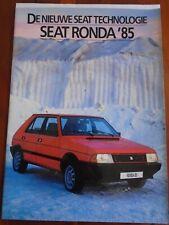 Seat Ronda brochure 1985 Dutch text