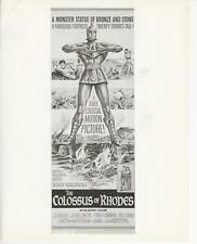 "L.Massari, G.Marchal in ""The Colossus of Rhodes"" 1961 Fantasy Fan Photo"