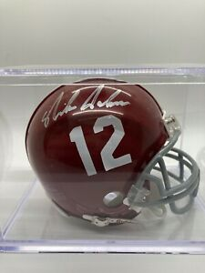 Nick Saban signed mini helmet, no COA, alabama crimson tide
