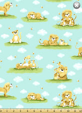 Fat Quarter Susybee Lyon The Lion All Over Cotton Quilting Fabric