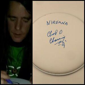 "GFA Nirvana Original Drummer CHAD CHANNING Signed New 10"" Drumhead PROOF COA"