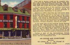 Boston, Ma Union Oyster House, Inc Ye Olde Oyster House 1948