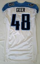 #48 Geer Authentic Game Issued Tennessee Titans Jersey