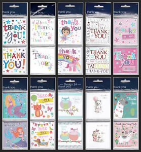 Thank You Twin Design Pack of 8 Cards Christmas / Wedding / Baby - 17 Designs