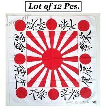 Lot 12 Bandanas Japan Flag Rising Sun Kamikaze Battle Headband Biker Scarf Neck