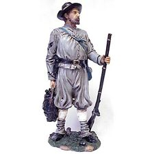 CIVIL WAR CSA SOLDIER WITH BACKPACK & RIFLE 11-12 INCH RESIN FIGURINE NEW 60964