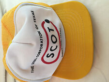 Action Sports Scot Steel Corp of Texas Yellow White Snapback Back Hat