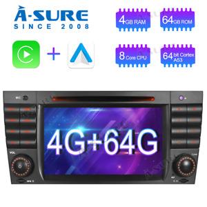 64GB Carplay Android Auto GPS DVD Auto Radio für Benz C/CLC/CLK Klasse W203 W209