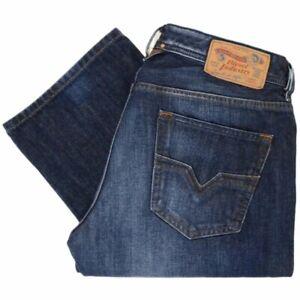 Mens DIESEL LARKEE 0823G STRETCH Denim Jeans REGULAR STRAIGHT DARK BLUE RRP £120
