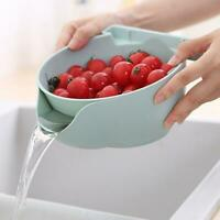 Double-layer Separation Drain Basket Mobile Phone Holder Plastic Household