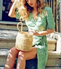 Women's Fashion Straw Bucket Bag Beach