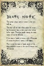 DEATH NOTE - RULES POSTER - 24x36 ANIME MANGA 3214