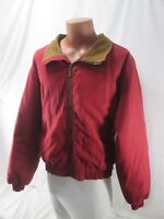 🔥 L.L. BEAN PLAID WOOL BLANKET LINED RED COTTON CANVAS JACKET COAT MENS XL