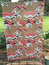 BORAC   Abstract    COTTON   SCREENPRINT      Retro VINTAGE Fabric