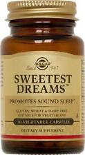 SOLGAR SWEETEST DREAMS 30 veg.tabs, PROMOTES SOUND SLEEP, VEGETARIAN