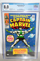 CAPTAIN MARVEL  #1 CGC 8.0 WHITE PAGES!  (MARVEL1968)