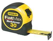 Stanley  FatMax  30 ft. L x 1.25 in. W Tape Measure  Black/Yellow  1 pk