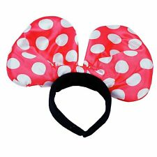 Oversized mini mouse ears with red spotted bow Fancy Dress Costume Accessory