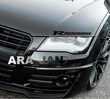 Racing Performance Sport Vinyl Decal Sticker sport car hood emblem logo BLACK